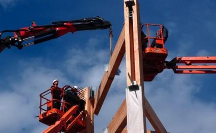 montage structure bois Bâtiment B