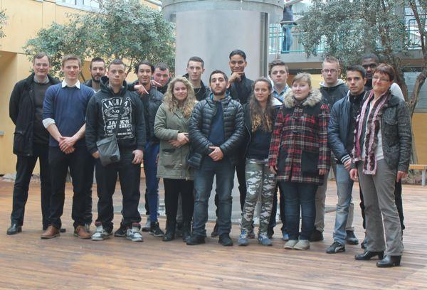 étudiants invités chez Layer en Allemagne
