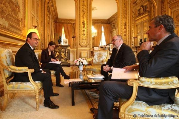 Président CAPEB & François Hollande