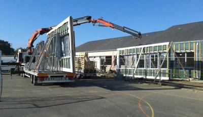 rénovation façade bois préfabriquée