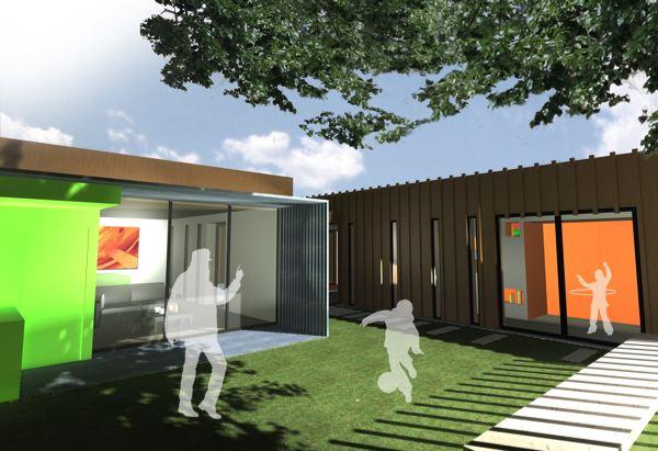 """Deuxième Prix : Julien Lecointre et Timothée Poisblaud – Ecole nationale supérieure d'architecture de Normandie – """"Cadre modulable"""""""