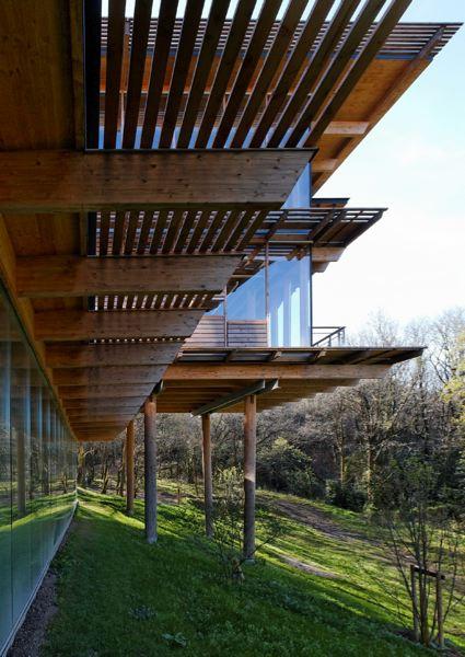 La construction utilisant du pin Douglas provenant d'un massif forestier européen géré durablement et renouvelé.