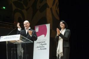 Remise du Grand Prix de l'Urbanisme à Frédéric BONNET par Sylvia PINEL et 5ème Palmarès des jeunes urbanistes. Photo : Ministère du Logement