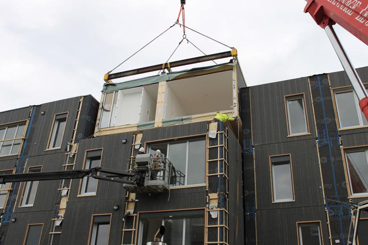 Batijournal logements sociaux le modulaire tient ses for Architecture modulaire