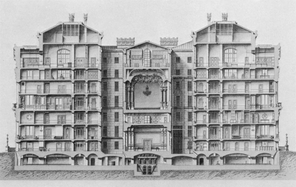 Source Wikimedia, Steinhauser, Monika (1969). Die Architektur der Pariser Oper, plate 42. Munich: Prestel.
