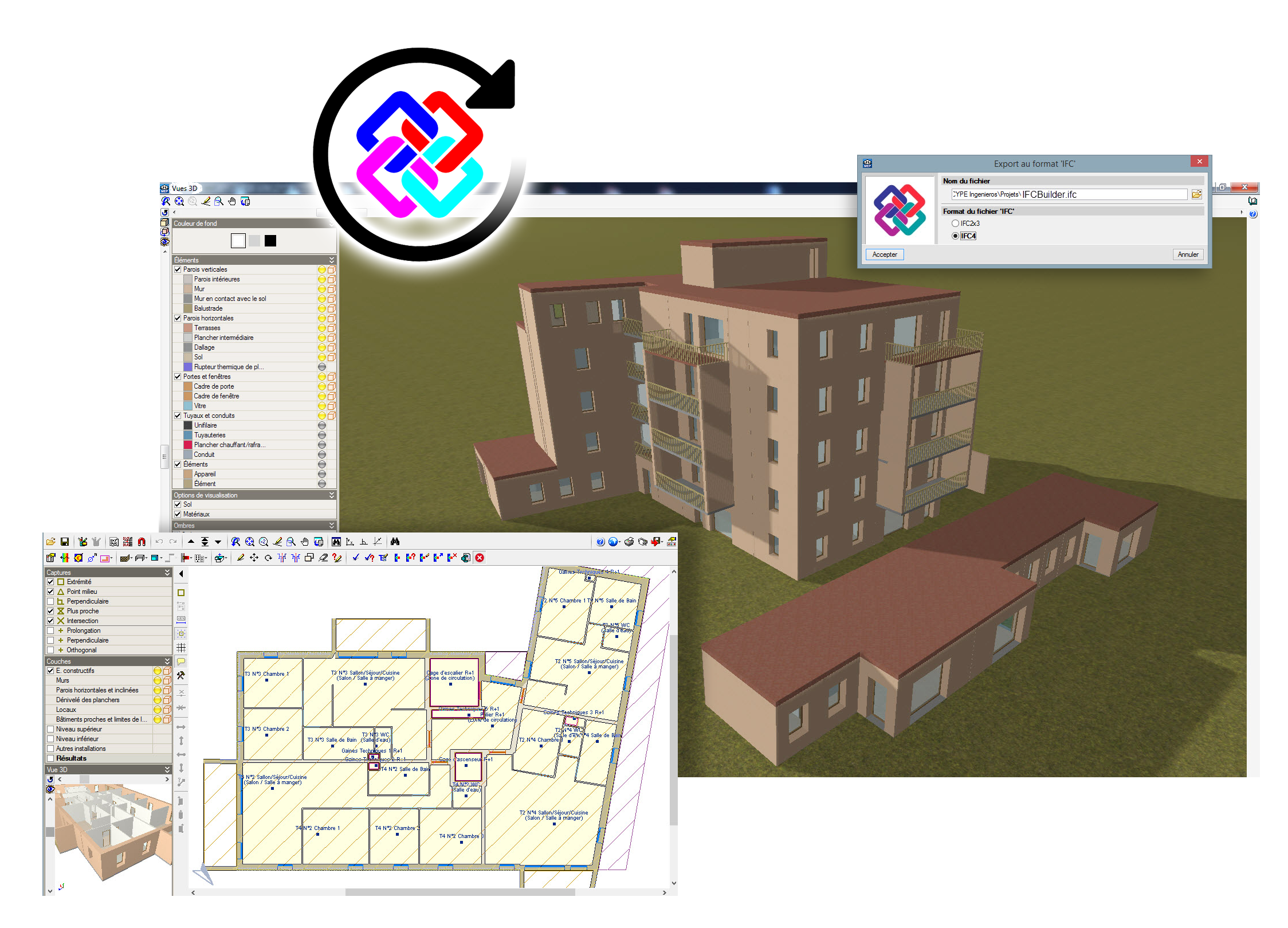 Synchronisation, open, Bim, Cypetherm, Cype, Software