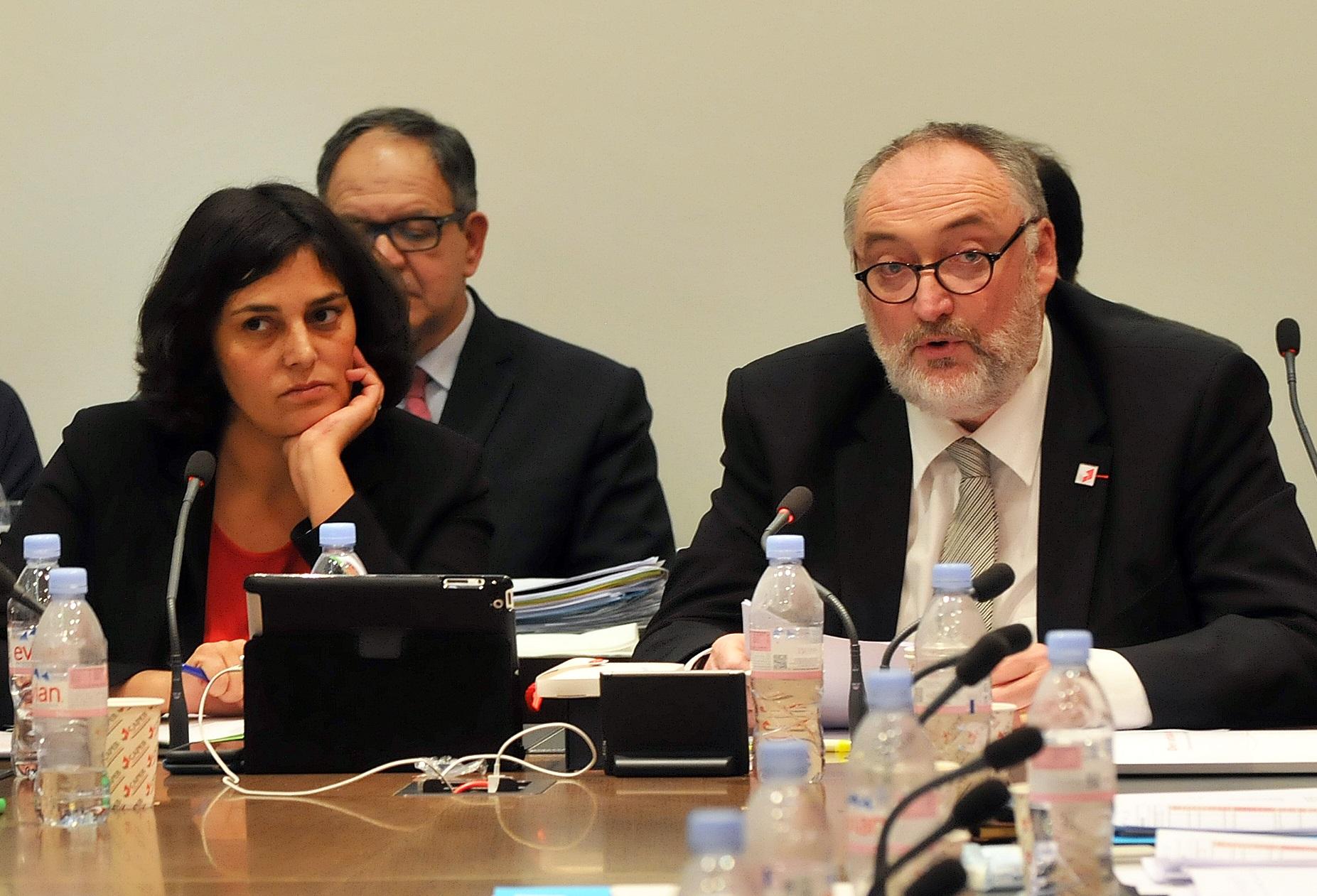 Myriam El Khomri et Patrick Liébus lors du CA de la CAPEB_©CAPEB