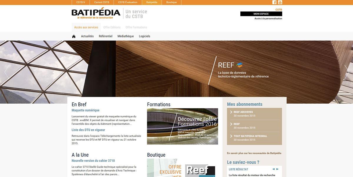 Homepage_BATIPEDIA_CSTB