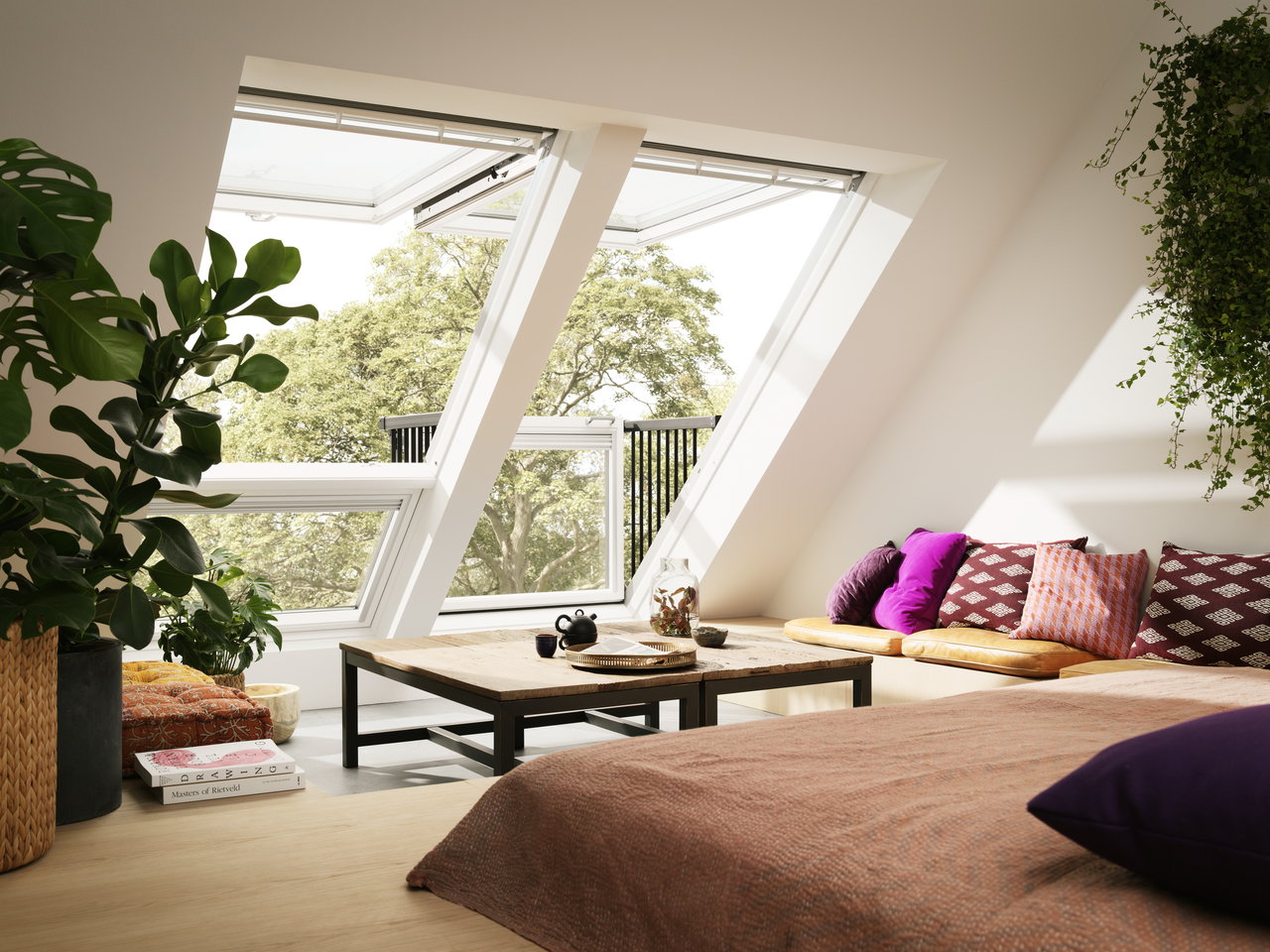 velux, cabrio, fenêtre, toit