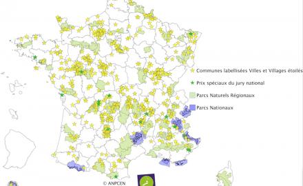 Carte villes et villages étoilés