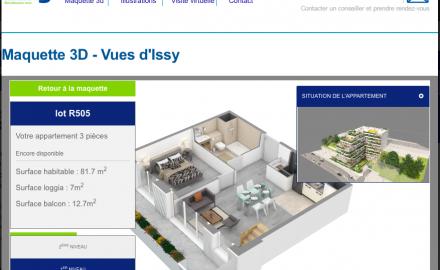Vue 3D et configurateur interactif chez Bouygues Immobilier