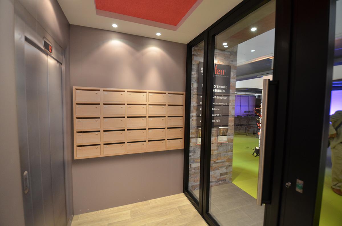 batijournal du nouveau dans les portes d entr e d immeuble pr tes poser batijournal. Black Bedroom Furniture Sets. Home Design Ideas
