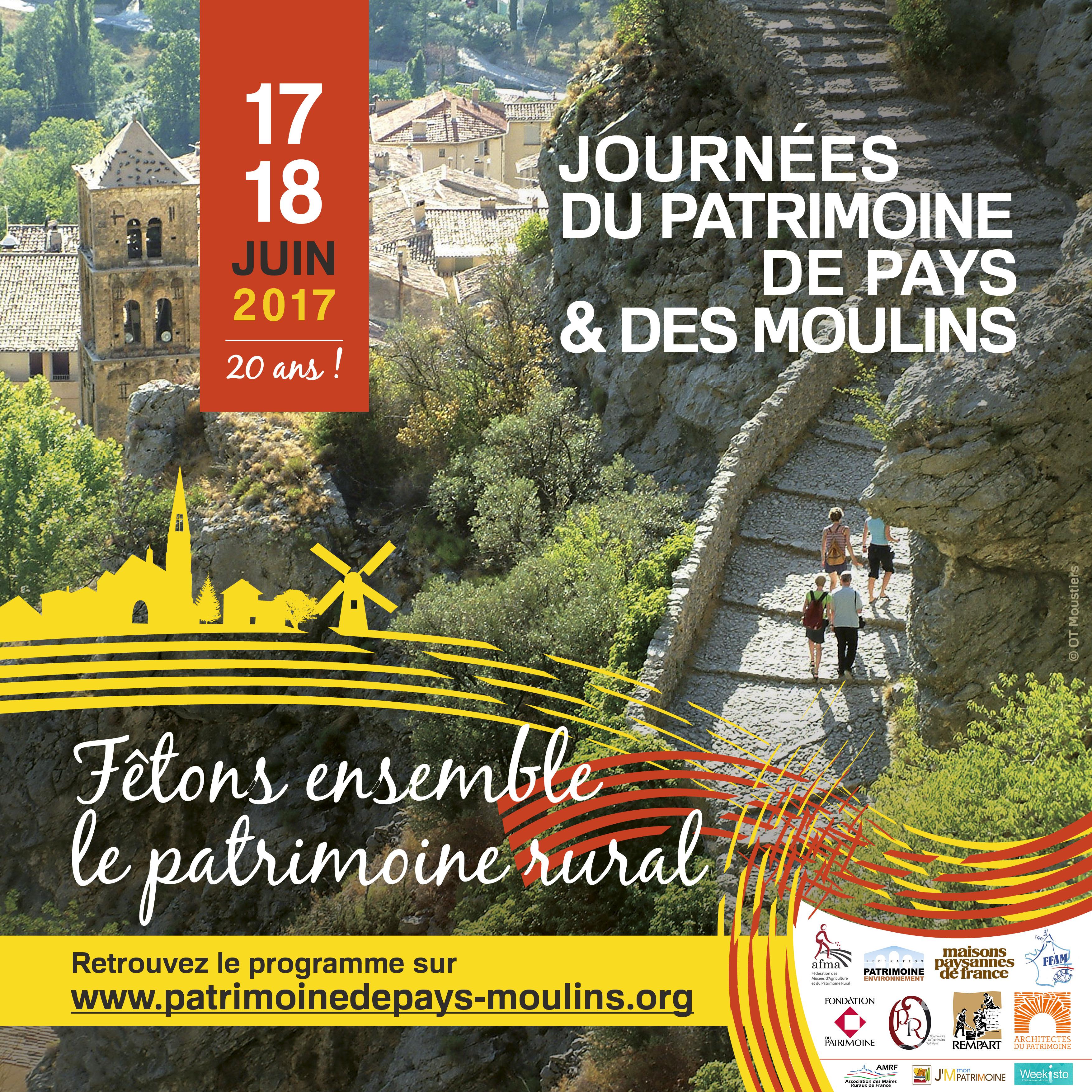 Batijournal journ es du patrimoine de pays et des moulins for Foire de moulins 2017