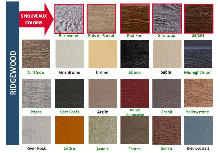 Choix de couleur canexel for Rona revetement exterieur