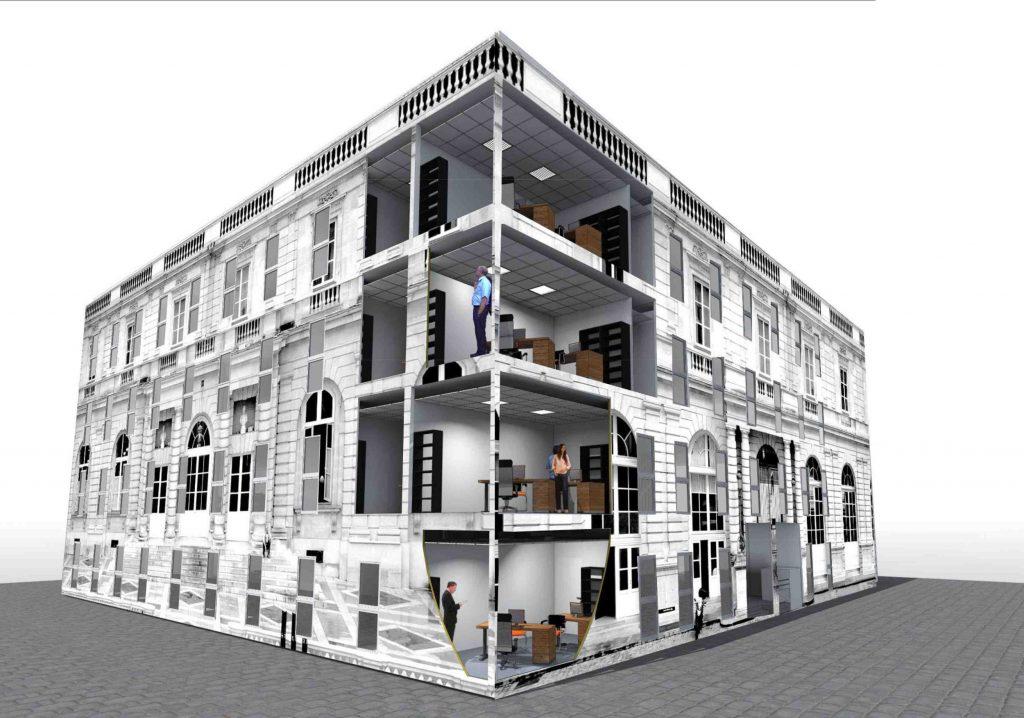 le s nat va emm nager pour 3 ans dans un b timent modulaire 5fa ades. Black Bedroom Furniture Sets. Home Design Ideas