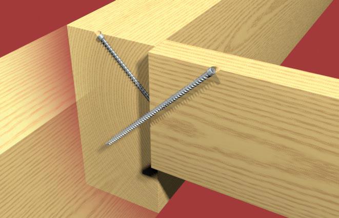 Batijournal du nouveau dans la visserie pour la for Construction ossature bois technique