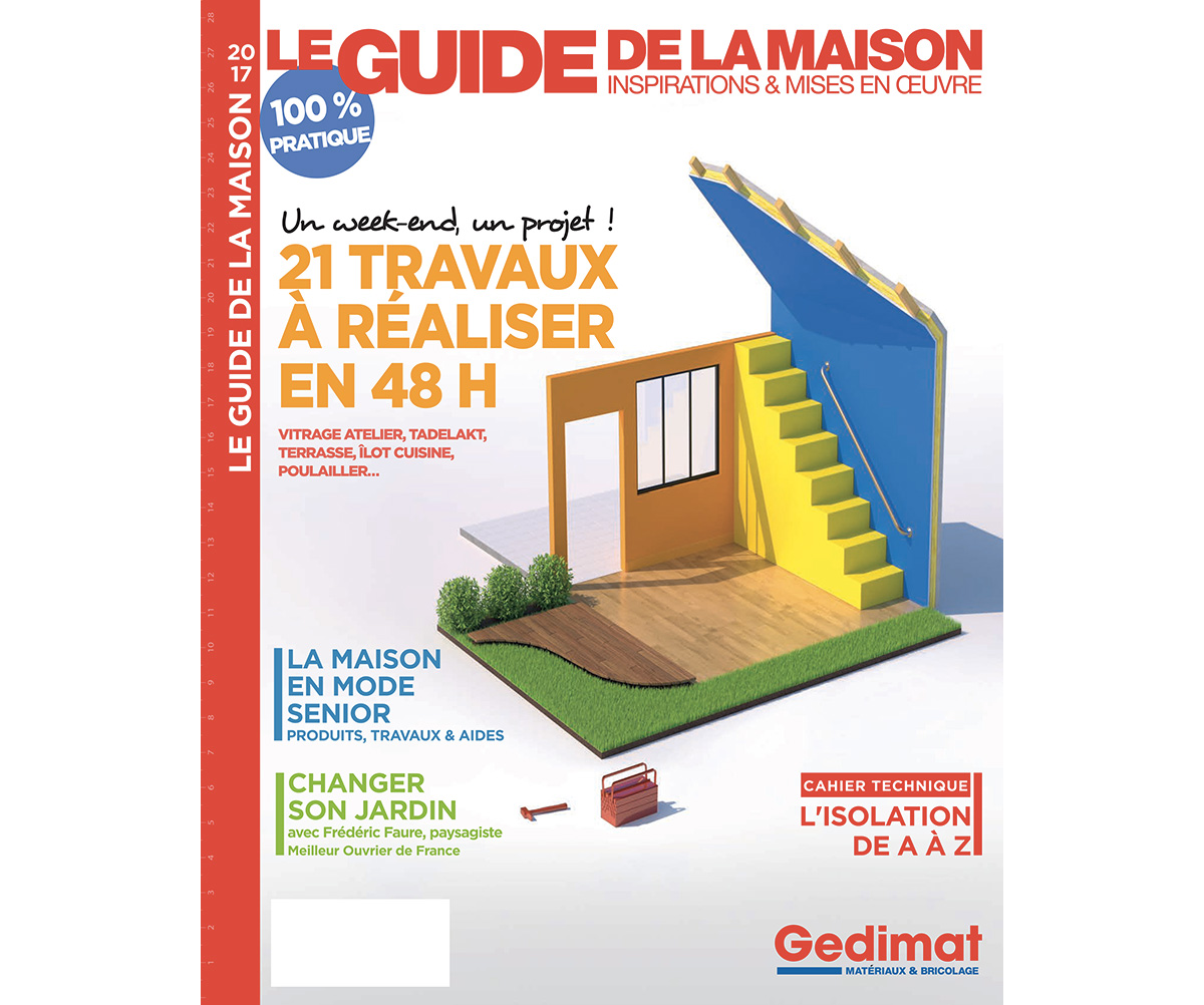 Batijournal le guide de la maison gedimat est en vente for Magazine le journal de la maison
