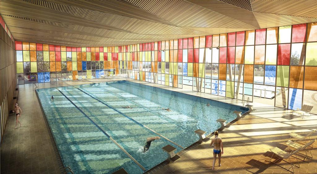 Un complexe aquatique qui baigne dans les couleurs 5fa ades - Architecte pertuis ...
