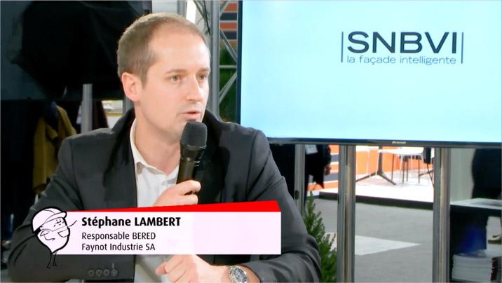 Stéphane Lambert, nouveau Président du SNBVI