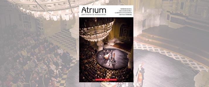Le numéro 79 d'Atrium patrimoine et restauration est sorti !
