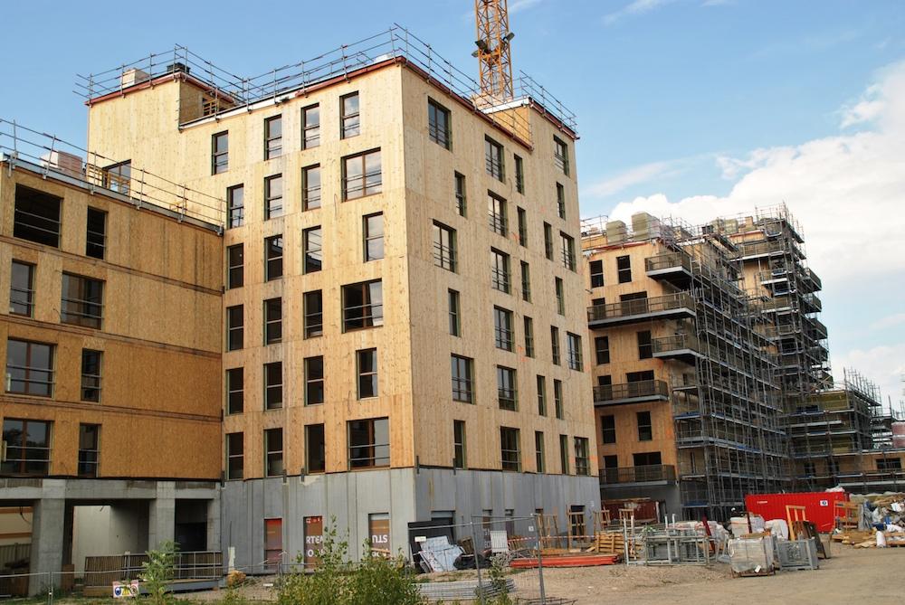 6000 m² de Delta-fassade pour l'immeuble strasbourgeois 100 % bois