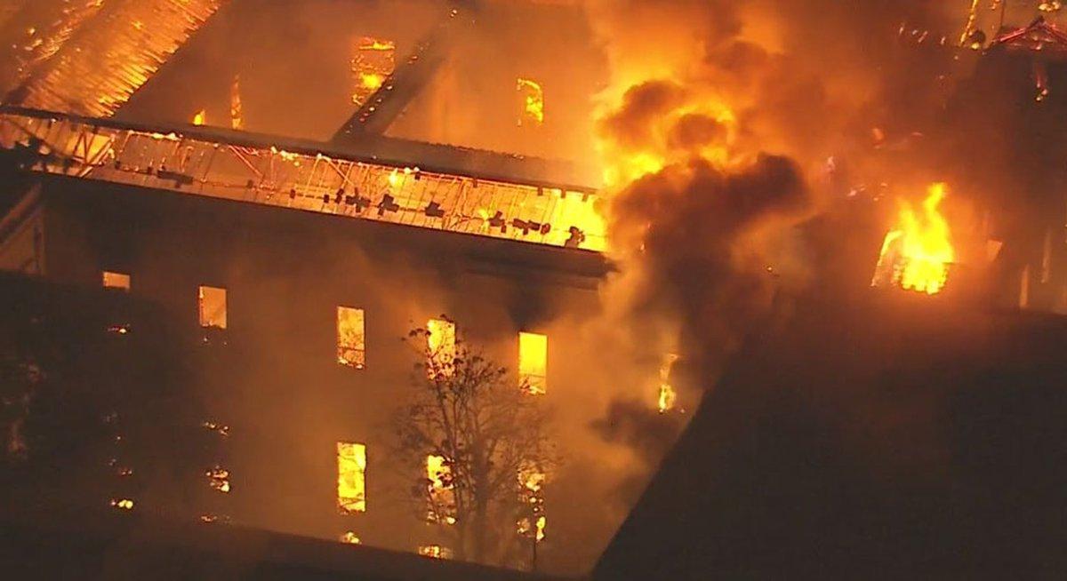 Un incendie détruit le Musée national de Rio de Janeiro