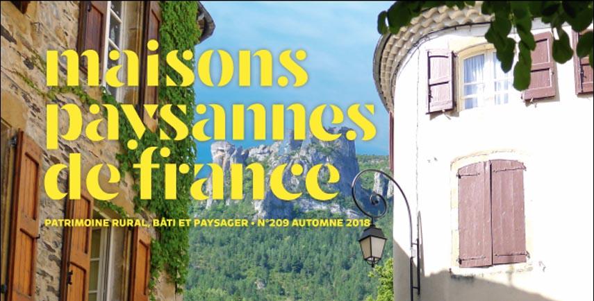 Le nouveau magazine Maisons Paysannes de France sur Kiosque21