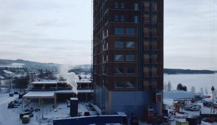Construction de la plus haute tour en bois en Norvège