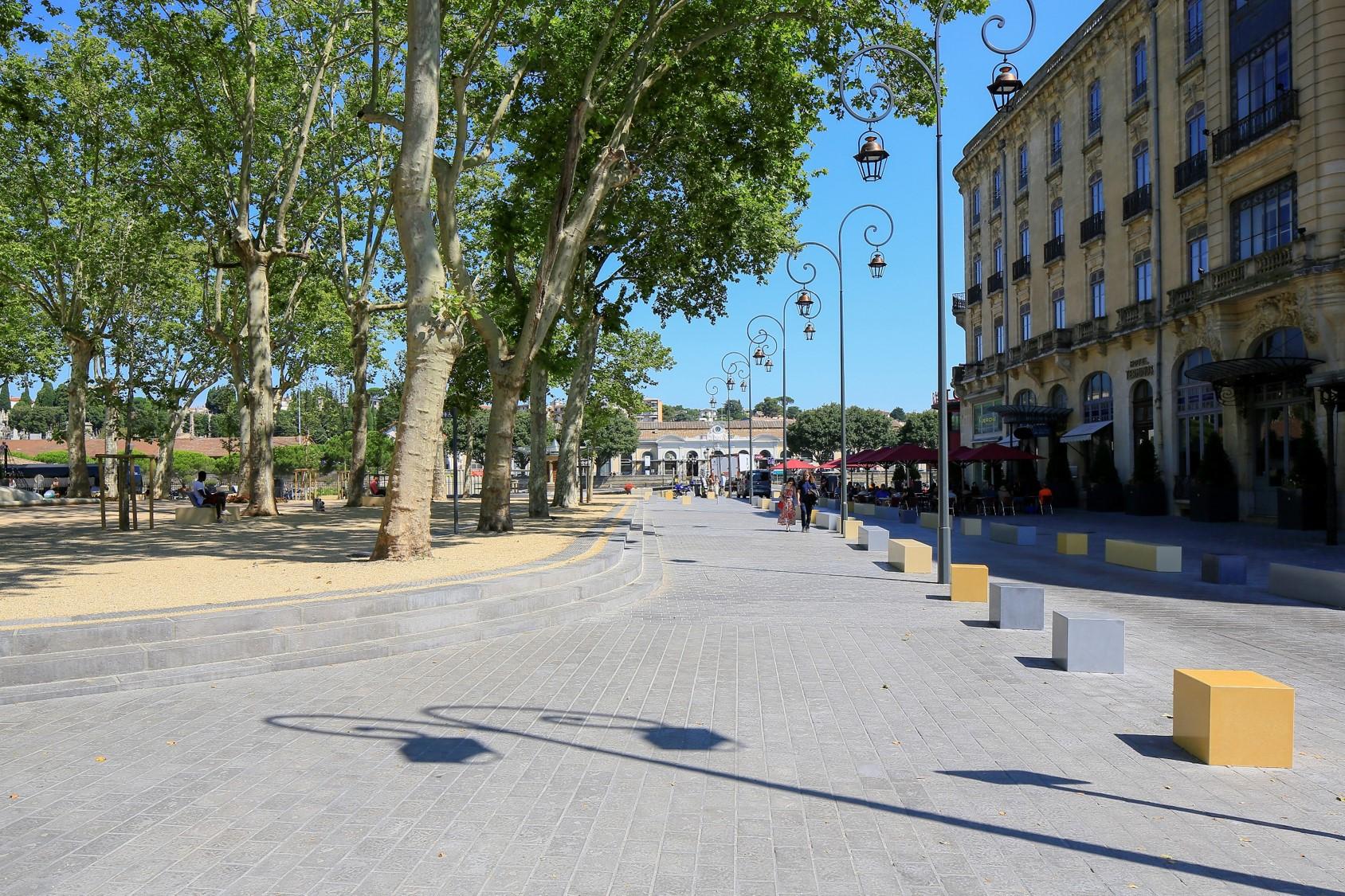 Square Chénier : réhabilitation en béton d'un site classé Bâtiment de France