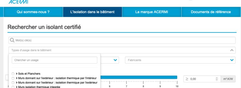 site web acermi recherche multicitere par usage