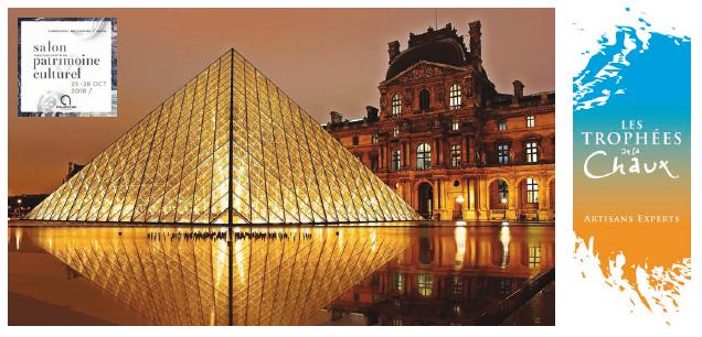 Inauguration des Trophées de la chaux 2019 au Salon international du patrimoine culturel
