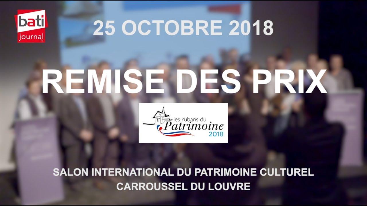 Remise des prix Les Rubans du Patrimoine lors du Salon International du Patrimoine Culturel 2018