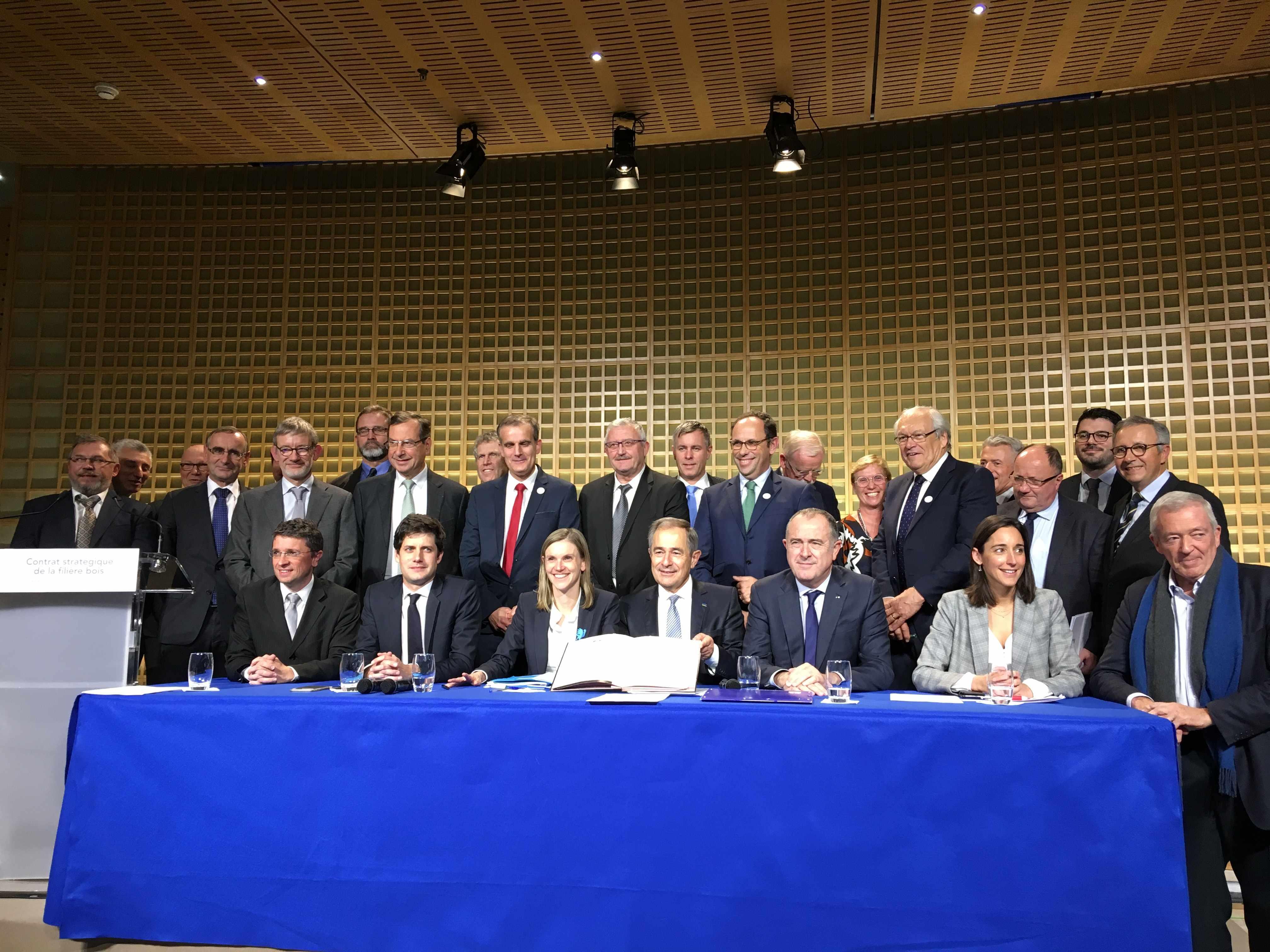 Signature du Contrat stratégique de la filière bois 2018-2022