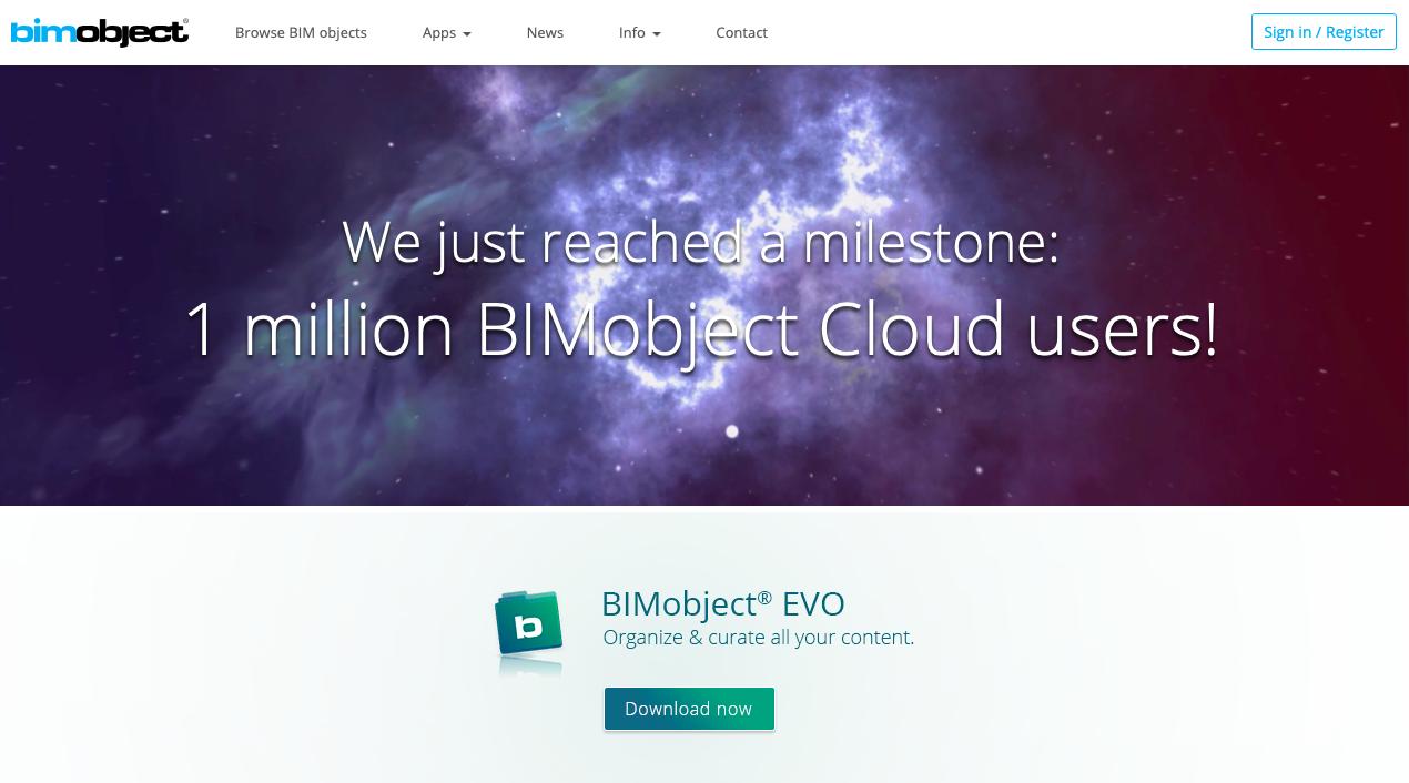 Le portail BIMobject dépasse le million d'utilisateurs