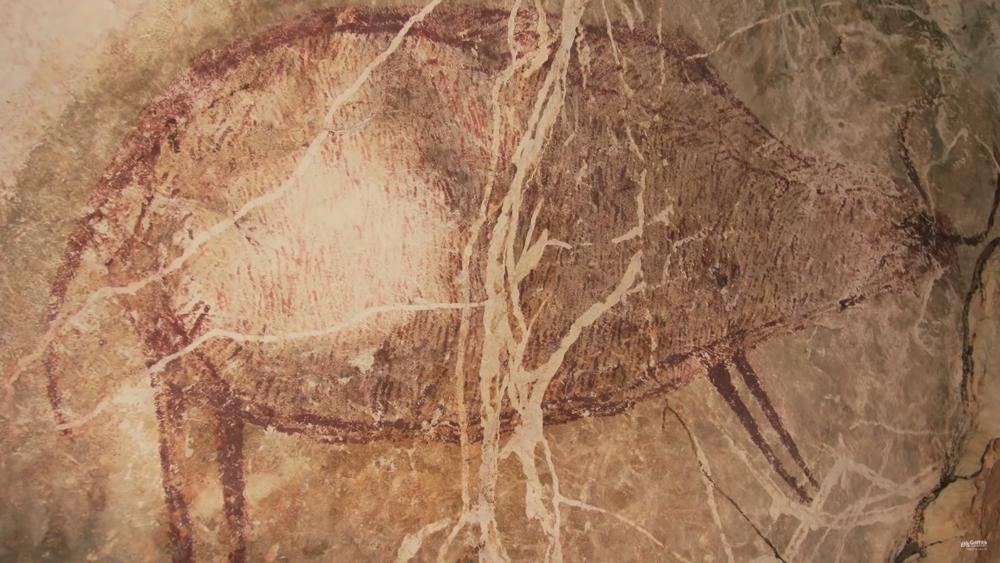 peinture rupestre Borneo - Youtube Griffith University