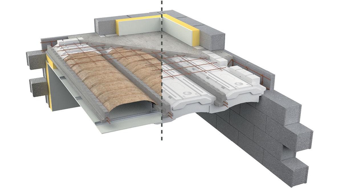 Plancher béton, solution exemplaire Qualitel Acoustique
