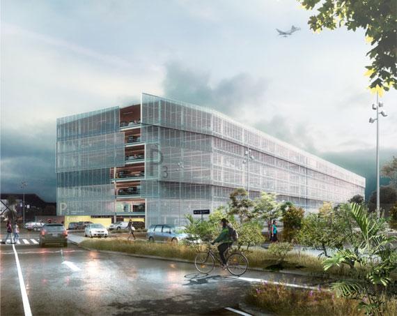Entreprises locales pour la construction du futur parking P3 à l'aéroport Lyon-Saint Exupéry