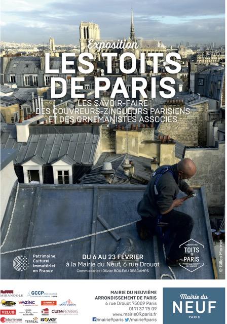 Exposition « LES TOITS DE PARIS » du 6 au 23 février