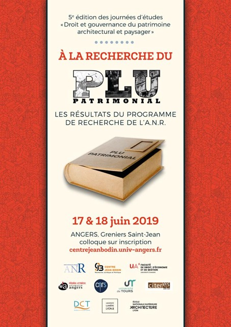 5èmes journées d'études «Droit et gouvernance du patrimoine architectural et paysager»