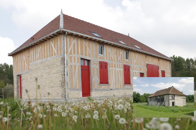 Les rubans du Patrimoine pour un bâtiment typique de l'habitat populaire du 19e