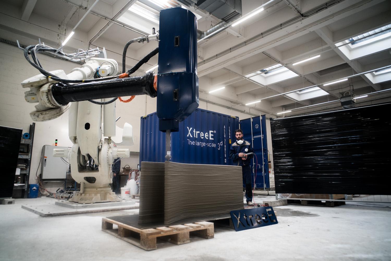 Plurial Novilia dévoile l'impression 3D béton d'un mur prototype du projet Viliaprint