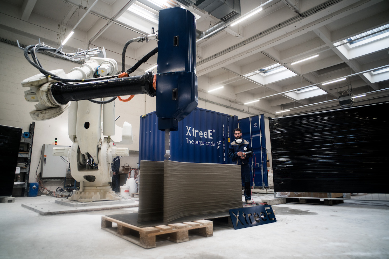 Impression 3D beton mur prototype Viliaprint